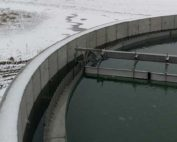 Clarifier with Snow in Winter